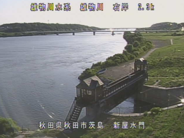 雄物川新屋水門ライブカメラ(秋田県秋田市茨島)