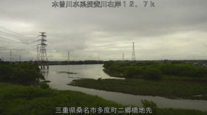 揖斐川二郷橋ライブカメラ(三重県桑名市多度町)