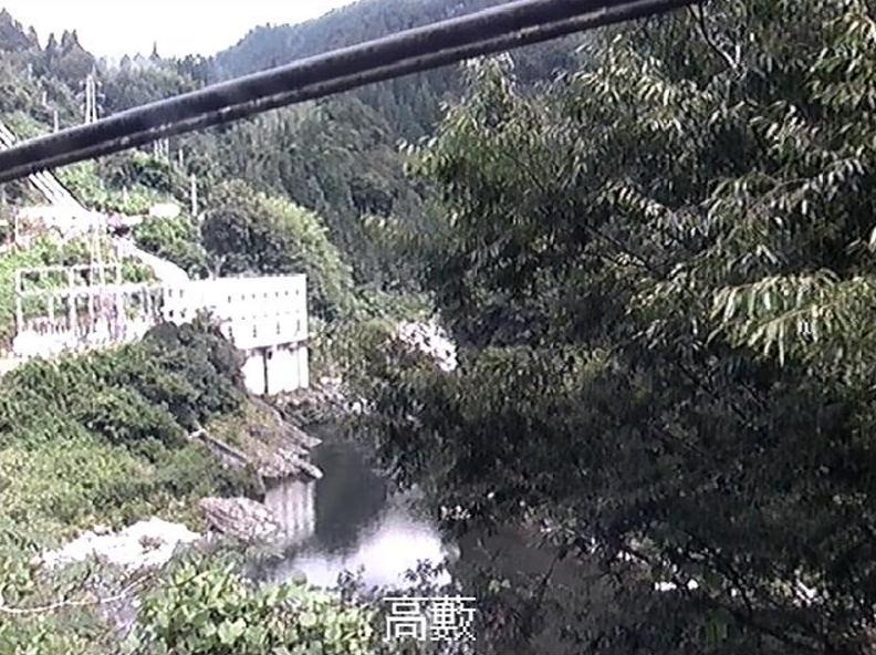 吉野川高藪ライブカメラ(高知県大川村上小南川)