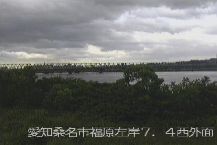 長良川西外面ライブカメラ(三重県桑名市長島町)