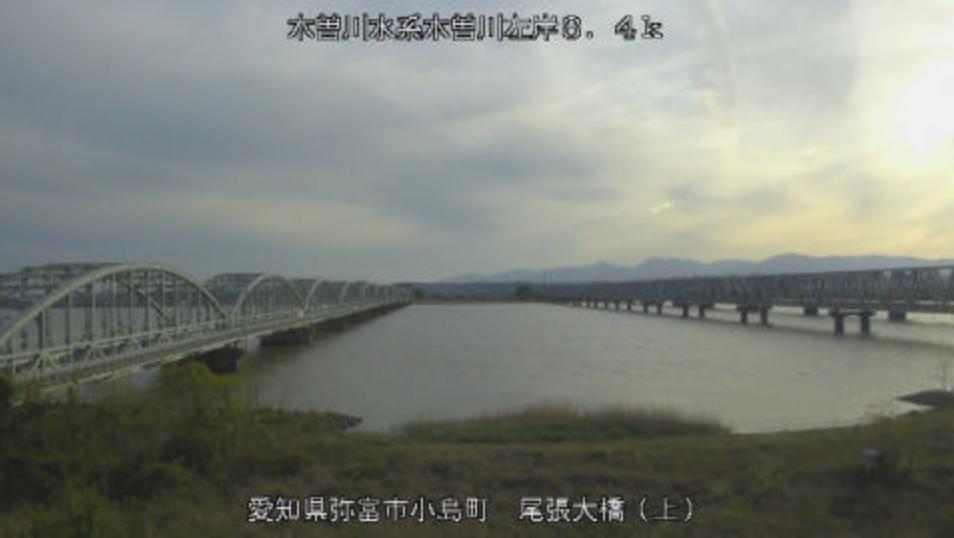 木曽川尾張大橋ライブカメラ(愛知県弥富市小島町)