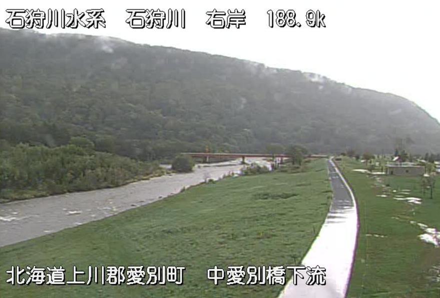 石狩川中愛別橋ライブカメラ(北海道愛別町中央)