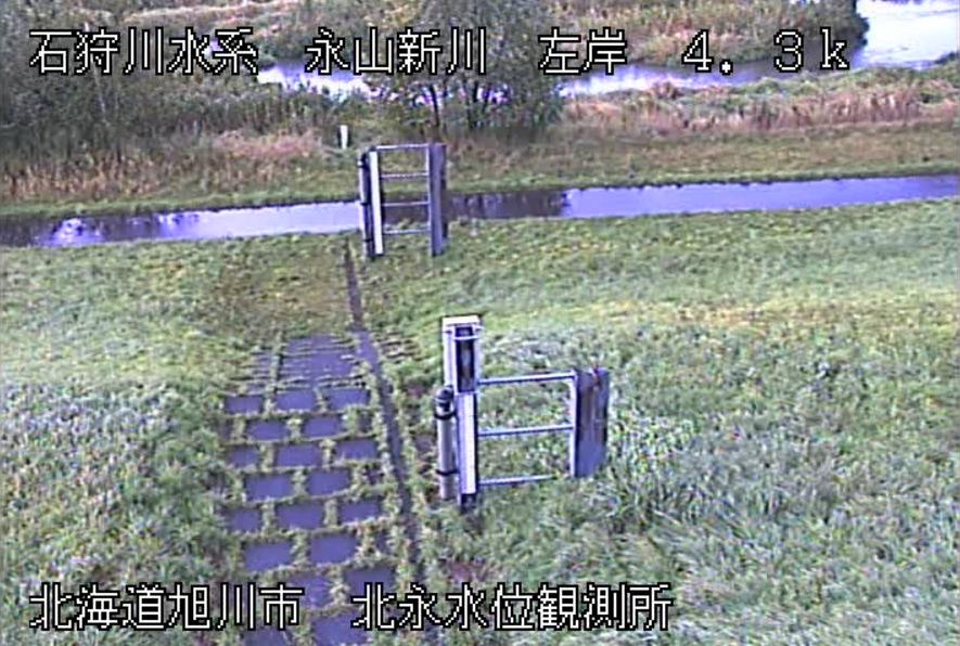 永山新川北永水位観測所ライブカメラ(北海道旭川市永山町)