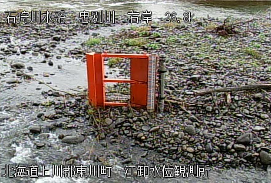 忠別川江卸水位観測所ライブカメラ(北海道東川町東12号南)