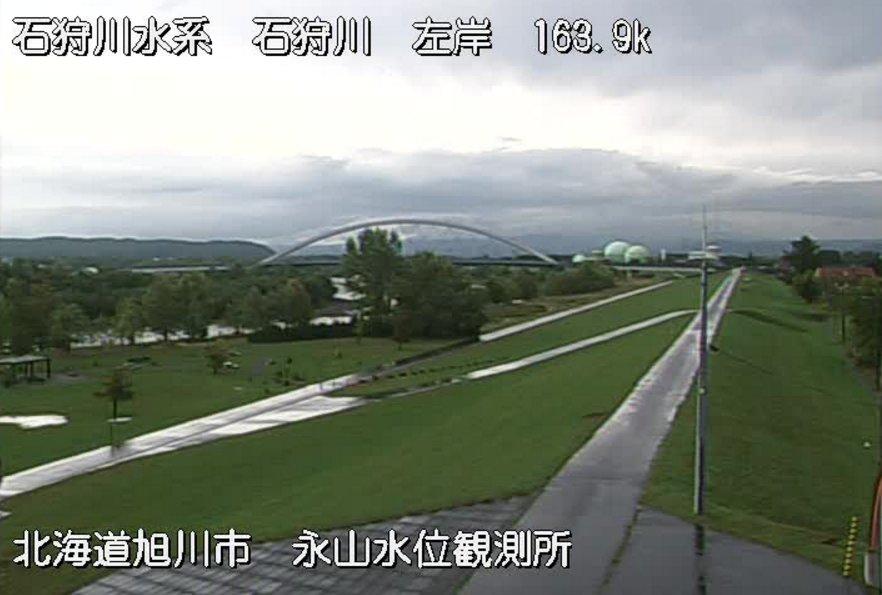 石狩川永山水位観測所ライブカメラ(北海道旭川市永山)