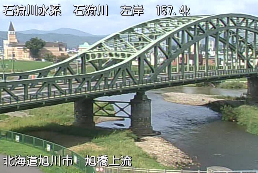 牛朱別川旭橋上流ライブカメラ