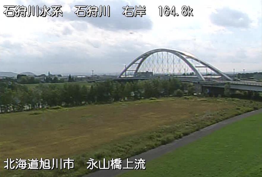 石狩川永山橋上流ライブカメラ