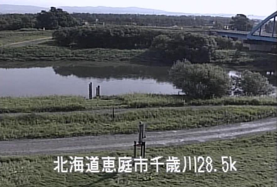 千歳川舞鶴水位観測所ライブカメラ(北海道恵庭市漁太)