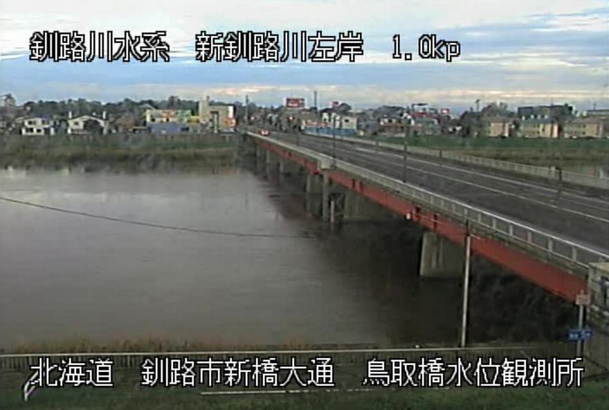 新釧路川鳥取水位観測所ライブカメラ
