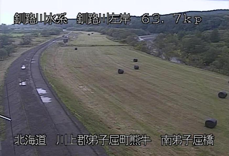 釧路川南弟子屈橋ライブカメラ(北海道弟子屈町熊牛)