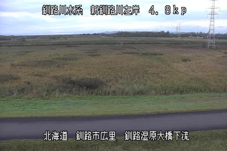 新釧路川釧路湿原大橋ライブカメラ(北海道釧路市広里)