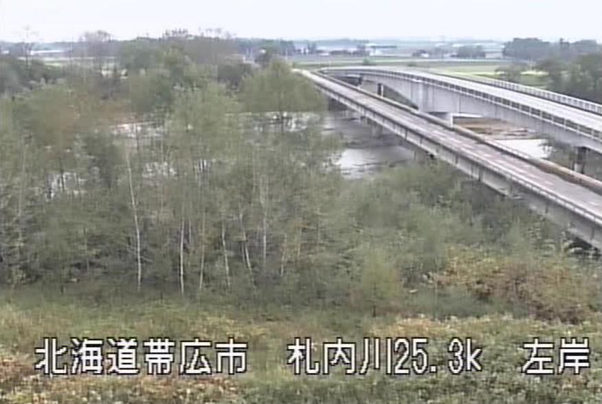 札内川大正橋ライブカメラ(北海道帯広市中島町)