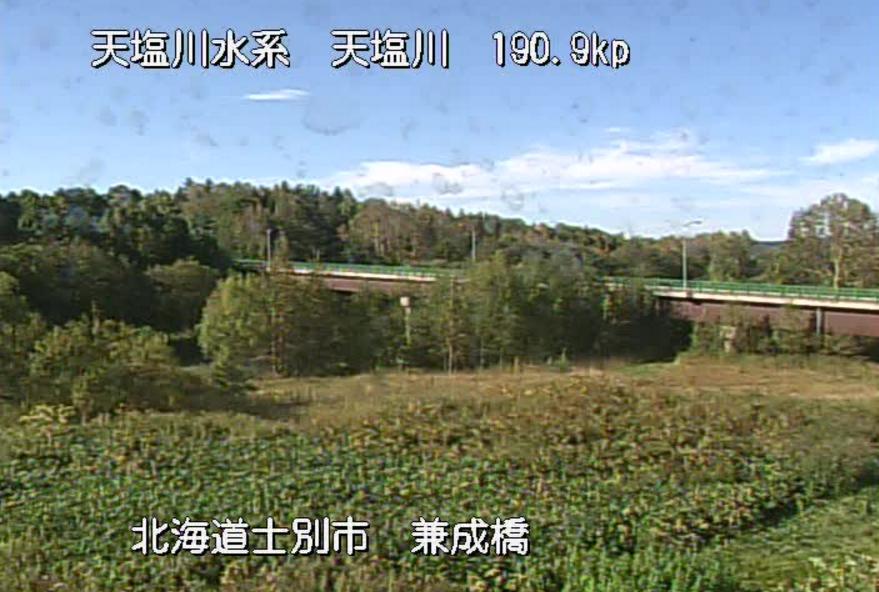 天塩川兼成橋ライブカメラ(北海道士別市上士別町)