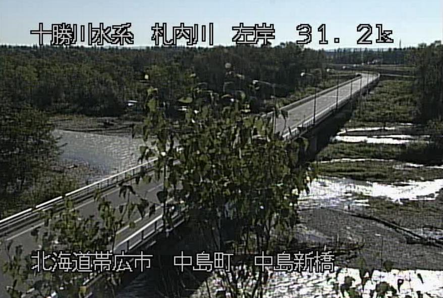 札内川中島新橋ライブカメラ(北海道帯広市中島町)