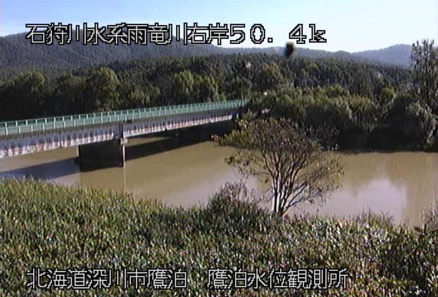 雨竜川鷹泊水位観測所ライブカメラ(北海道深川市鷹泊)