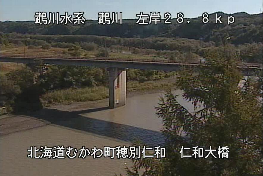 鵡川仁和大橋ライブカメラ(北海道むかわ町穂別仁和)