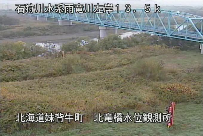 雨竜川北竜橋水位観測所ライブカメラ(北海道妹背牛町千秋)