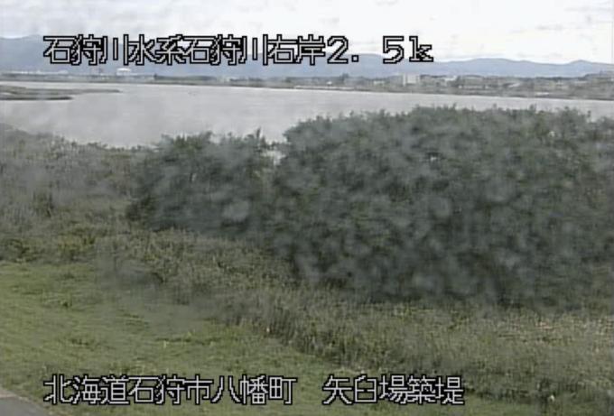 石狩川矢臼場築提ライブカメラ(北海道石狩市八幡町)