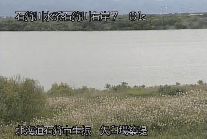 石狩川矢臼場築提ライブカメラ(北海道石狩市生振)