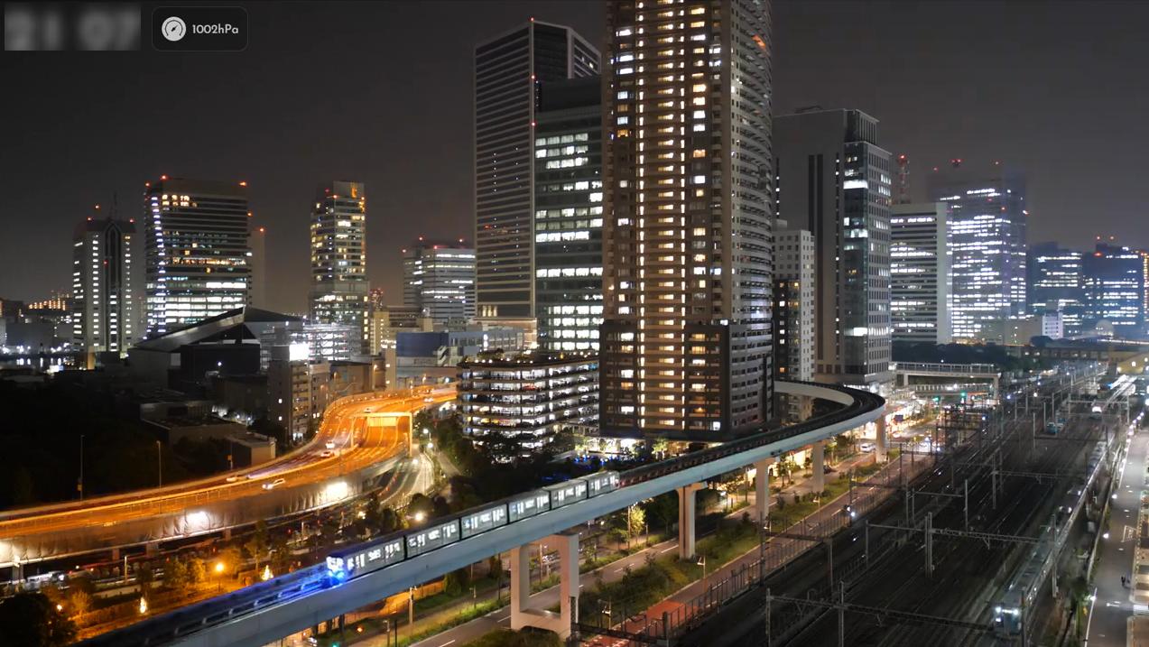 汐留付近鉄道ライブカメラ(東京都港区東新橋)