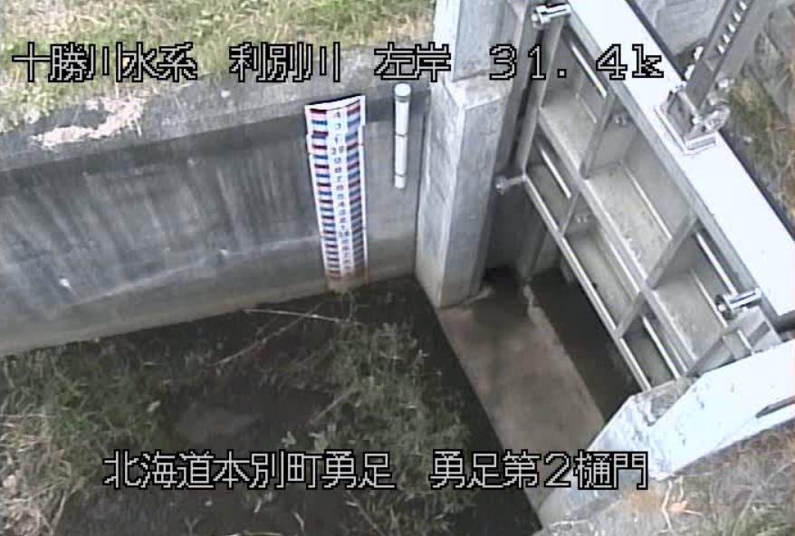 利別川勇足第2樋門ライブカメラ(北海道本別町勇足)
