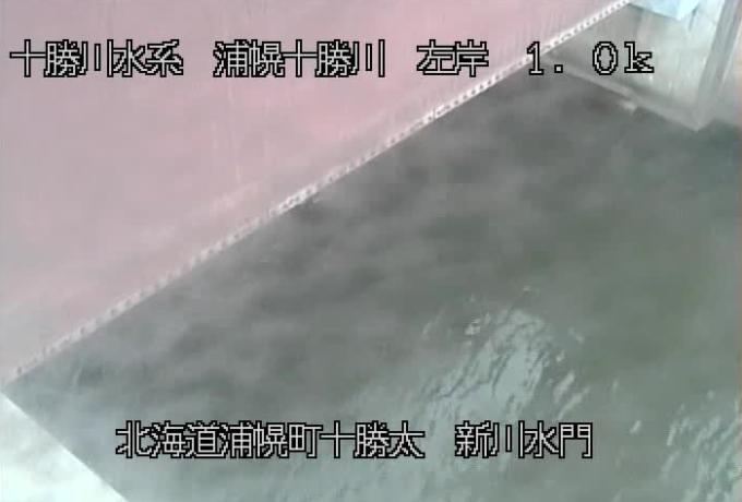 浦幌十勝川新川水門堤外ライブカメラ(北海道浦幌町十勝太)