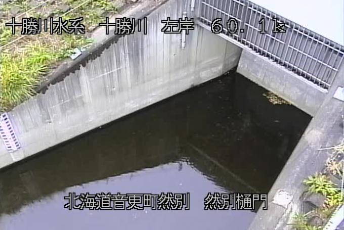 十勝川然別樋門ライブカメラ