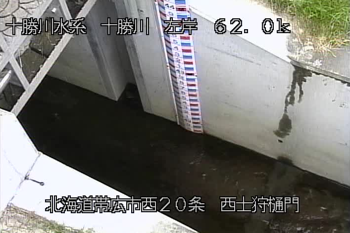 十勝川西士狩樋門ライブカメラ(北海道帯広市西20条北)