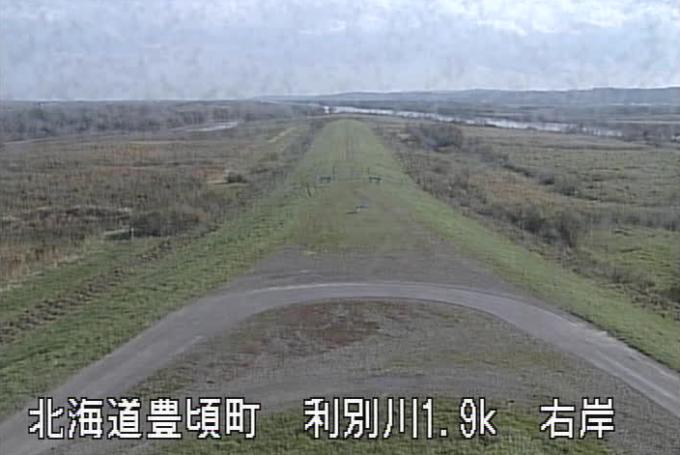 利別川十勝川合流点ライブカメラ(北海道豊頃町北栄)