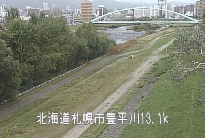 豊平川東橋ライブカメラ(北海道札幌市中央区)