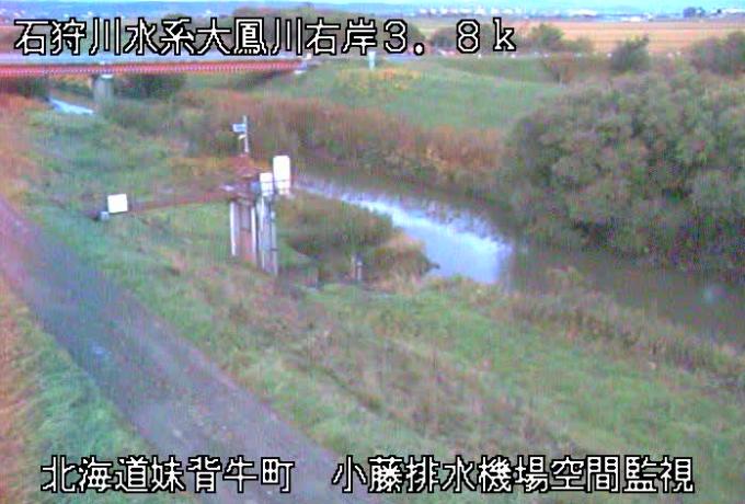 大鳳川小藤排水機場ライブカメラ(北海道妹背牛町チクシベツ)