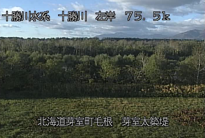 十勝川芽室太築堤ライブカメラ(北海道芽室町毛根)