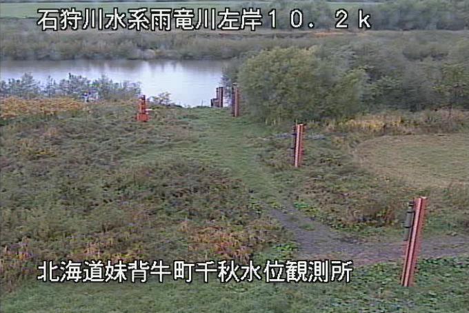 雨竜川千秋水位観測所ライブカメラ(北海道妹背牛町千秋)