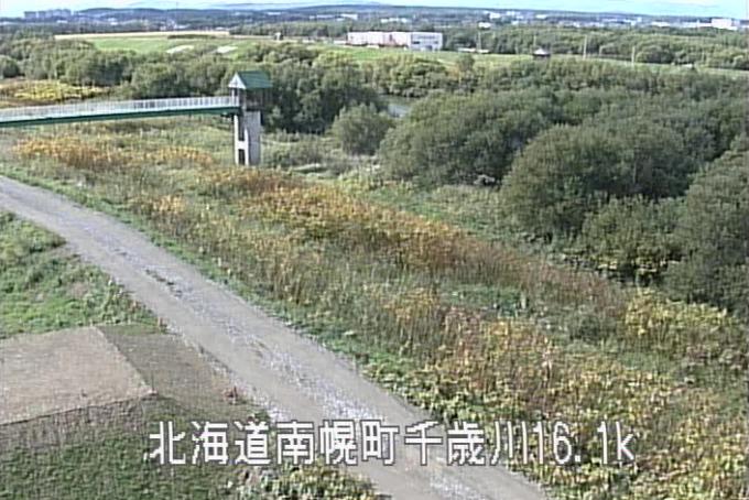 千歳川西22号樋門ライブカメラ(北海道南幌町南17線西)