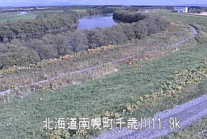 千歳川登満別排水機場付近ライブカメラ(北海道南幌町南12線西)