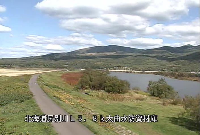尻別川大曲水防資材庫ライブカメラ(北海道蘭越町)