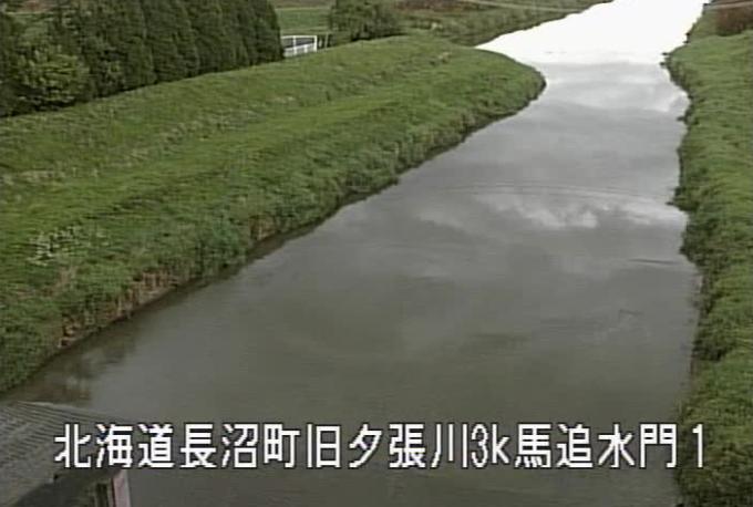 旧夕張川馬追運河水門ライブカメラ(北海道長沼町西9線南)