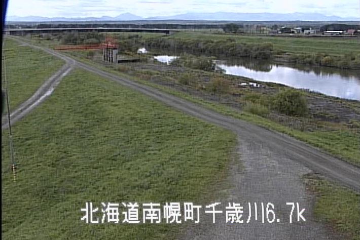 千歳川中の月揚排水機場ライブカメラ(北海道江別市東野幌)
