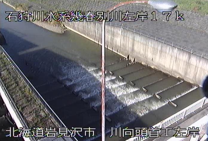 幾春別川川向頭首工左岸ライブカメラ(北海道岩見沢市東町)