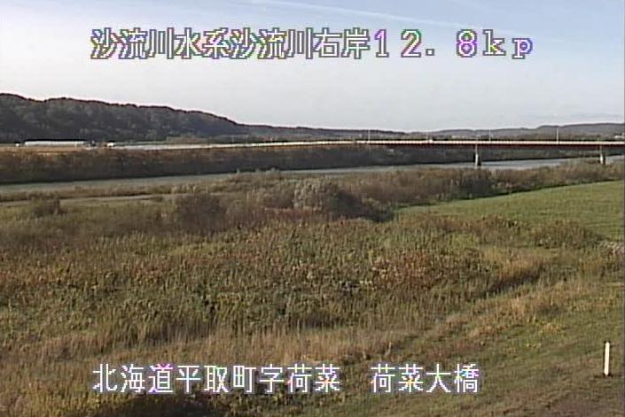 沙流川荷菜大橋ライブカメラ(北海道平取町荷菜)