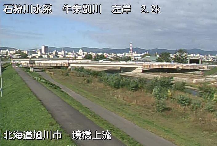 牛朱別川境橋ライブカメラ(北海道旭川市11条通)