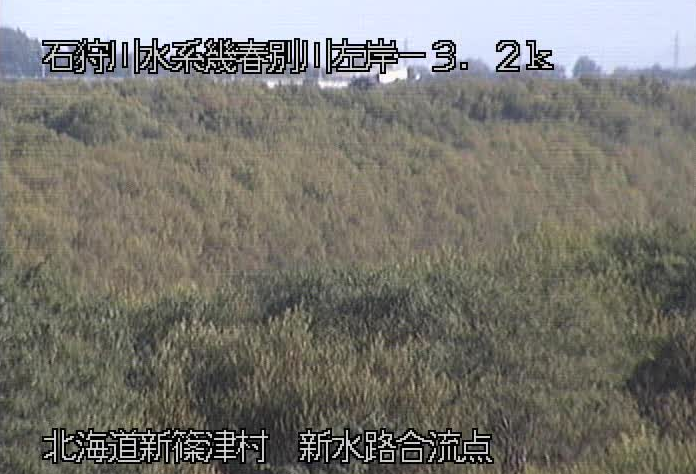 幾春別川新水路合流点ライブカメラ(北海道岩見沢市北村砂浜)