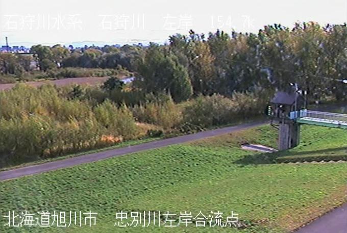 石狩川忠別川左岸合流点ライブカメラ(北海道旭川市忠和)
