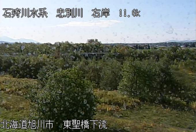 忠別川東聖橋ライブカメラ(北海道旭川市東旭川町共栄)