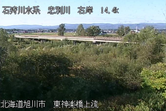 忠別川東神楽橋ライブカメラ(北海道旭川市東旭川町)