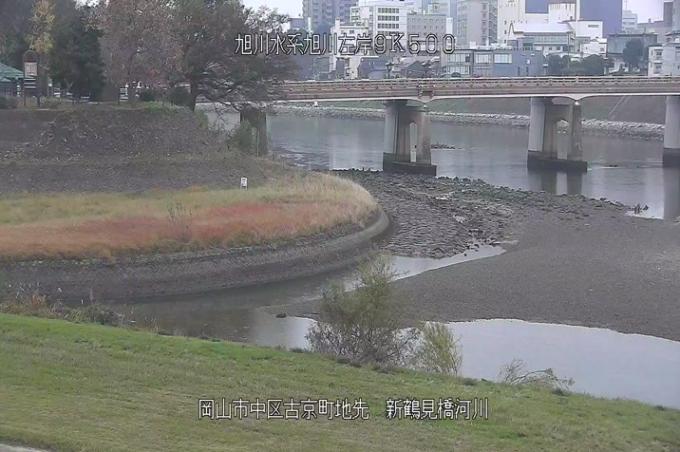 旭川新鶴見橋ライブカメラ(岡山県岡山市中区)