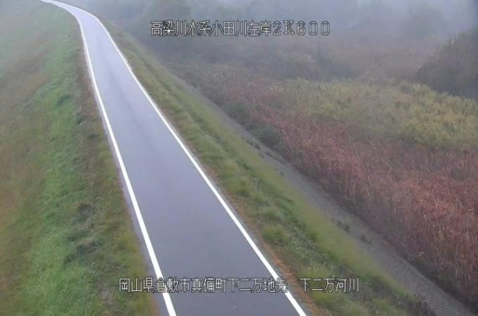 小田川下二万ライブカメラ(岡山県倉敷市真備町)