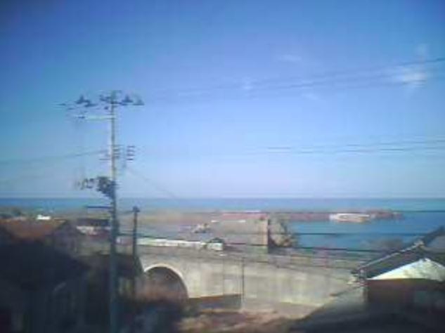 サトウ電業米子漁港ライブカメラ(山形県鶴岡市温海丙)