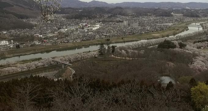 白石川堤一目千本桜ライブカメラ(宮城県柴田町船岡)