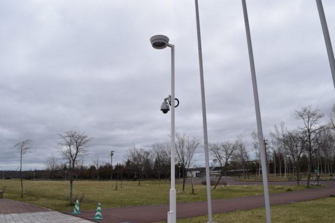 運動場付近に設置しているライブカメラ